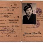 Legitymacja szkolna Państwowego Gimnazjum i Liceum z 1947-48 r.