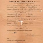 Karta rejestracyjna mieszkańców miasta Szczecina (21 września 1945r.)