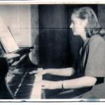 p. D.Szpetkowska na lekcji u p. prof. Durnasiowej - 1947 r.