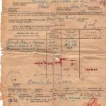 Karta ewakuacyjna z Wilna rodziny p. Szpetkowskiej (02 luty 1945r.)