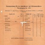 Karta rejestracyjna mieszkańców miasta Szczecina - tył