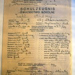 Dwujęzyczne świadectwo szkolne p.Wahla z Generalnej Guberni